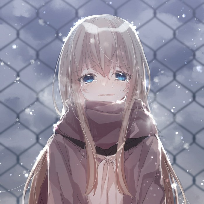 伤心,哭泣的动漫女生头像