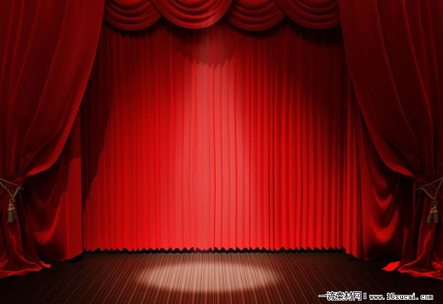 美图控,舞台剧红色幕帘背景图片