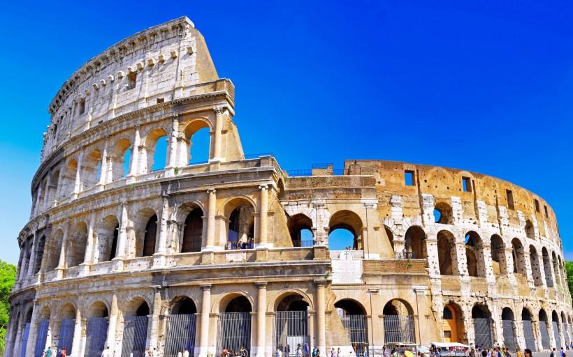 意大利古罗马斗兽场遗址桌面壁纸 风景图片