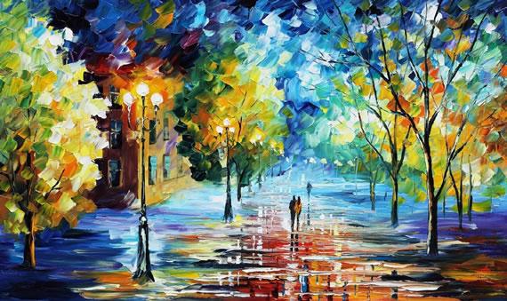 光与影的完美交融_色彩斑斓的唯美油画QQ空间素材