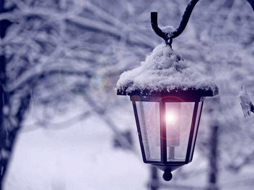 五点钟 静待落雪的声音_唯美雪景的QQ空间图片素材