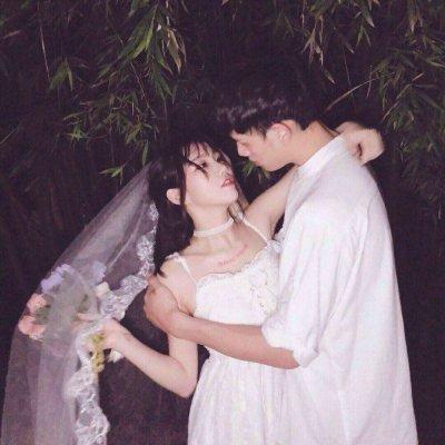 2019情人节婚纱情侣头像双人 好看的幸福情侣头像一对两张