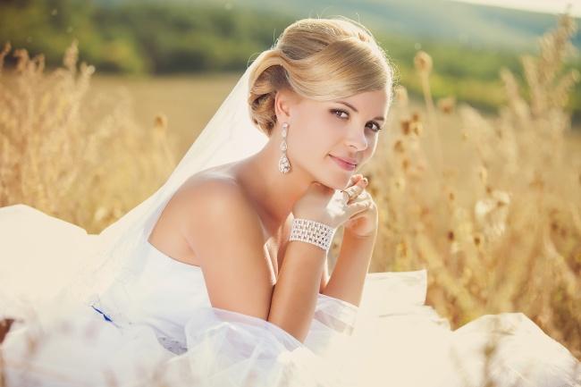 女生欧美婚纱头像图片